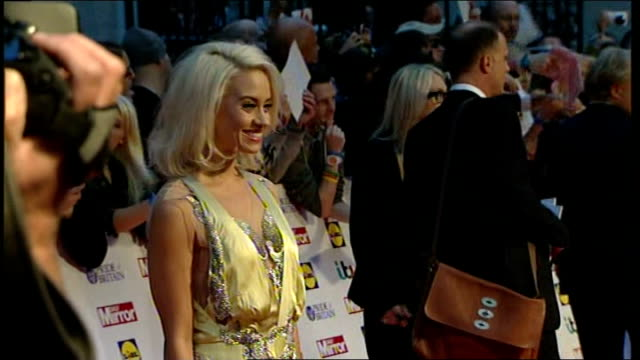 pride of britain awards 2013: arrivals and interviews; more red carpet arrivals including; the saturdays / kimberly wyatt / christine bleakley /... - christine bleakley stock videos & royalty-free footage