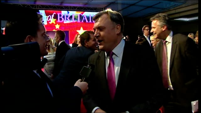 pride of britain awards 2013: arrivals and interviews; yvette cooper interviewed sot ed balls mp as interviewed on red carpet and interview sot carol... - carol vorderman stock videos & royalty-free footage