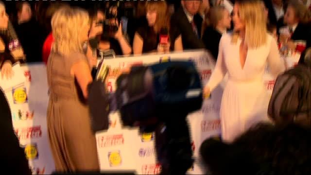 pride of britain awards 2013: arrivals; katherine jenkins posing for press / andrea mclean / deborah meaden and robin windsor / carol vorderman... - carol vorderman stock videos & royalty-free footage