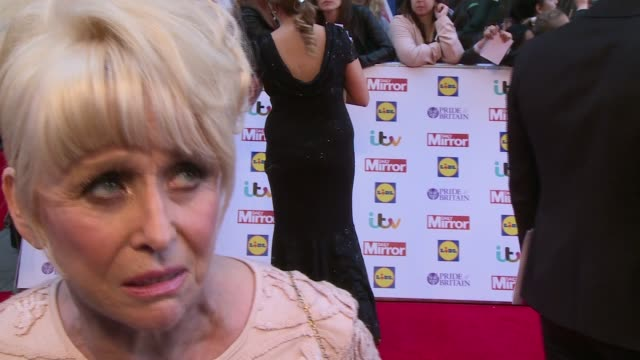 celebrity arrivals and interviews dame barbara windsor interview sot her idols growing up / on being 78 her bucket list / celebrity arrivals... - boy band stock videos & royalty-free footage