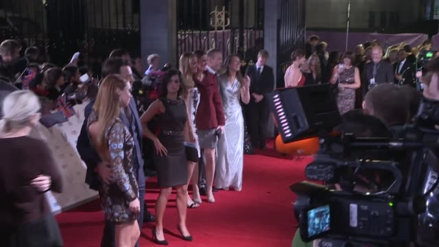 Red carpet arrivals and interviews Frankie Bridge along and interview SOT / Danielle Lloyd posing / Una Healy and husband Ben Foden posing / Lloyd...