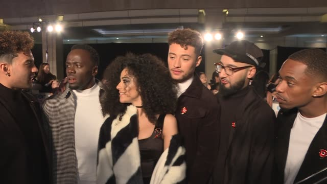red carpet interviews Harry Judd Tom Fletcher Giovanna Fletcher GVs RakSu and The Cutkelvins interview SOT Tracy Leanne Jefford IV interview SOT...