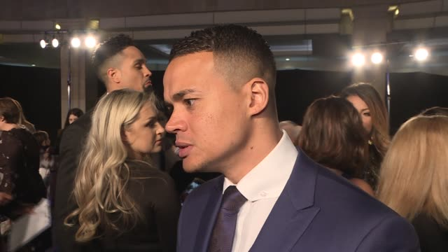 red carpet interviews jermaine jenas interview sot james phelps and oliver phelps interview sot liam payne on red carpet shirley ballas interview sot - oliver phelps stock videos & royalty-free footage