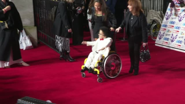 pride of britain awards 2019: red carpet arrivals; england: london: grosvenor house: ext / night **beware flash photography** grosvenor house /... - anneka rice stock videos & royalty-free footage