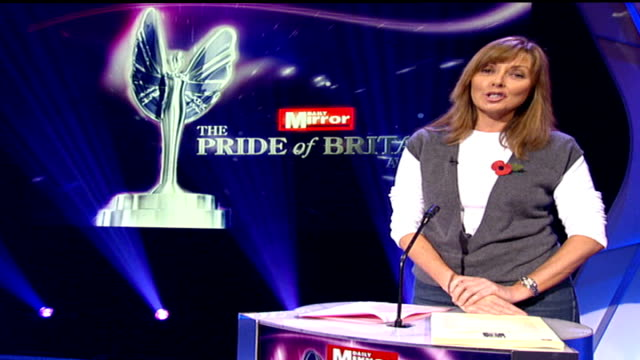 pride of britain awards: preview; england: london: int carol vorderman 2-way interview sot - people receiving the awards will be those who have done... - carol vorderman stock videos & royalty-free footage