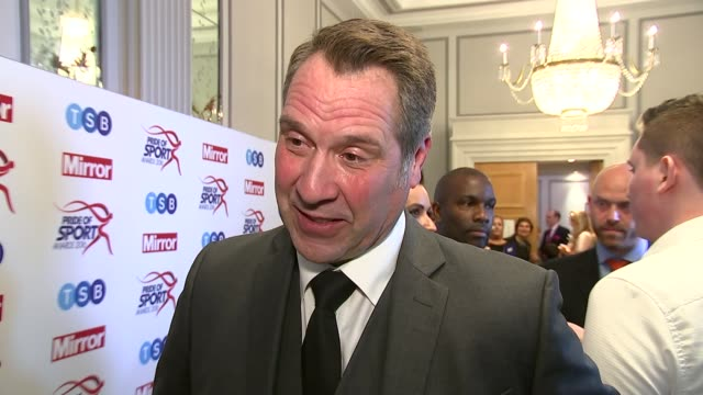 Winners' room David Seaman interview SOT Comments on child sex abuse football story