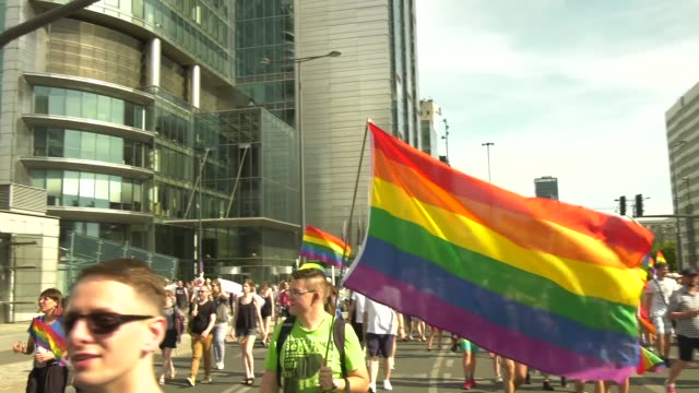 Pride Parade passed through Warsaw Poland on June 9 2018