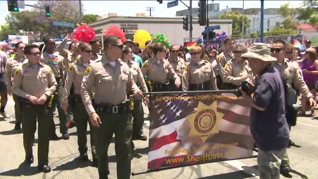 pride parade - ウェストハリウッド点の映像素材/bロール