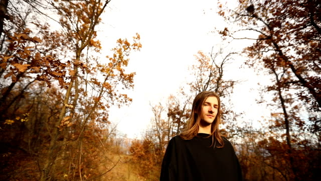 priest in forest - long hair stock videos & royalty-free footage