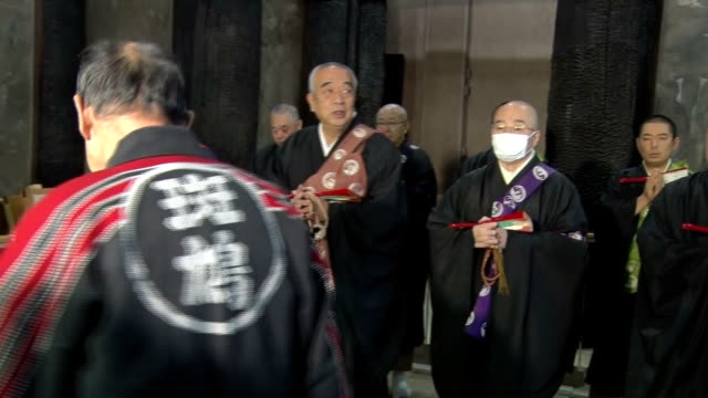 Priests and volunteers conducted a fire drill on Monday January 26 at Horyuji Temple believed to have been built in early seventh century and is...