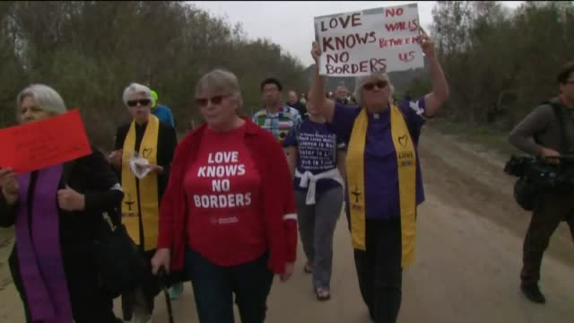 priests, pastors, imams and rabbis rally at the san diego–tijuana border. - san diego stock videos & royalty-free footage