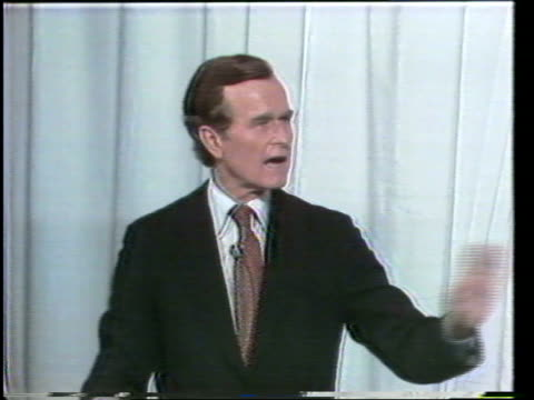 primary debate sponsored by the league of woman voters between ronald reagan and george w h bush moderated by howard k smith / bush discusses how he... - vorwahl stock-videos und b-roll-filmmaterial