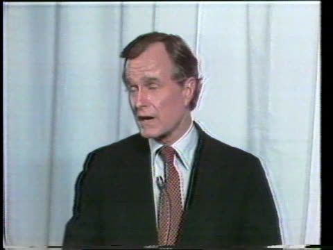 primary debate sponsored by the league of woman voters between ronald reagan and george w h bush moderated by howard k smith / bush and reagan answer... - vorwahl stock-videos und b-roll-filmmaterial