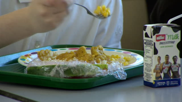 primary school children eating lunch - school meal stock videos & royalty-free footage