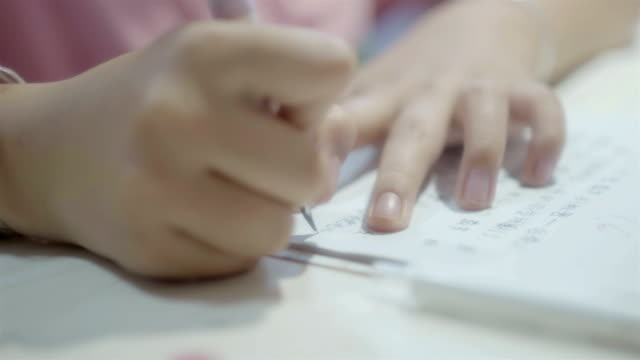 vidéos et rushes de les élèves du primaire font leurs devoirs - carnet