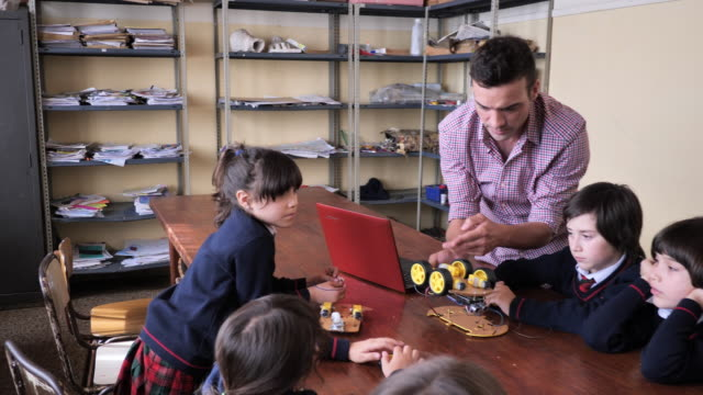 primary school - technology and innovative education in latin america - school uniform stock videos & royalty-free footage