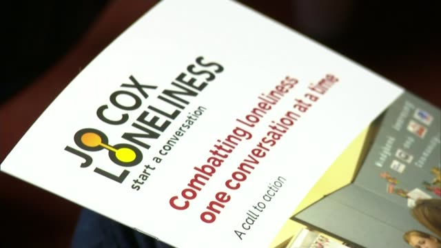 prime minister announces strategy to tackle issue of loneliness t15121716 / report of the jo cox loneliness commission - jo cox politician stock videos and b-roll footage