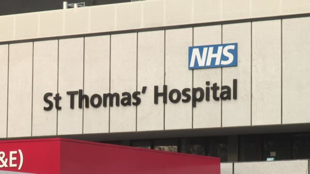 prime minister boris johnson has reportedly been sitting up in bed and engaging with staff as he enters his fifth day at st thomas' hospital in london - 18 19 years stock videos & royalty-free footage