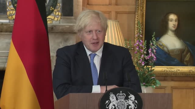 prime minister boris johnson praising conservative party candidate ryan stephenson's efforts in the batley and spen by-election - improvement stock videos & royalty-free footage