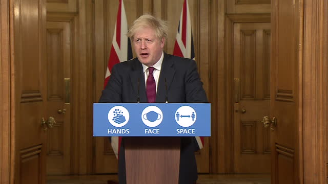 """prime minister boris johnson saying he """"bitterly regrets"""" the cancellation of the coronavirus christmas bubble - christmas stock videos & royalty-free footage"""