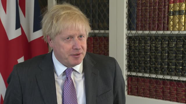 "prime minister boris johnson saying his government and the eu are ""very far apart on some key things"" in brexit negotiations - talking politics stock videos & royalty-free footage"