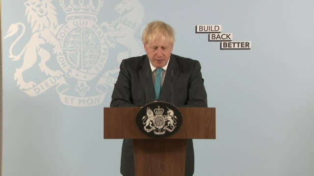 "prime minister boris johnson saying ""now is the time to end the snooty distinction between the practical and the academic"" - attitude stock videos & royalty-free footage"