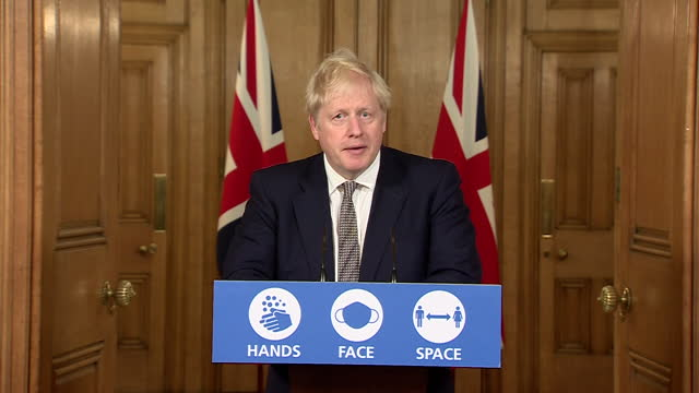 """prime minister boris johnson saying the second national coronavirus lockdown """"will not be like the full-scale lockdown of march and april"""" - march month stock videos & royalty-free footage"""