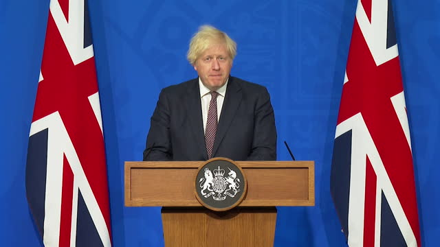 prime minister boris johnson saying the uk is only able to proceed to step 4 of the easing of coronavirus restrictions due to the success of the... - direction stock videos & royalty-free footage