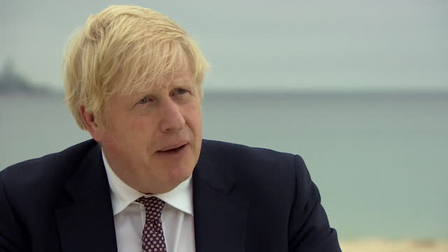 """prime minister boris johnson saying us president joe biden is """"actively engaged and extremely sympathetic"""" in regards to the harry dunn case - care stock videos & royalty-free footage"""