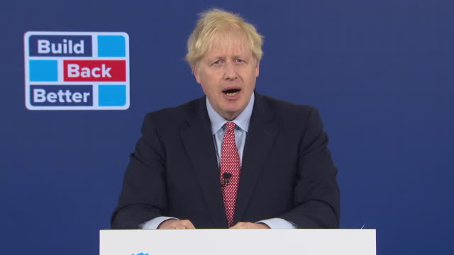 prime minister boris johnson saying we will build a bright future together - the way forward stock videos & royalty-free footage