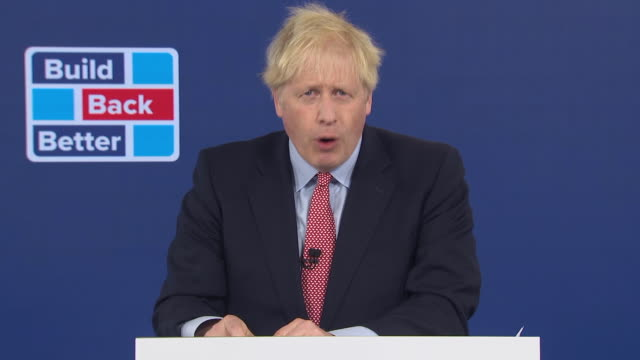 """prime minister boris johnson saying """"what saudi arabia is to oil, the uk will be to wind power"""" - oil stock videos & royalty-free footage"""