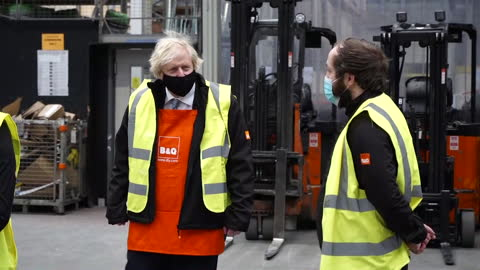 prime minister boris johnson wearing a face mask on a visit to b&q - human head stock videos & royalty-free footage