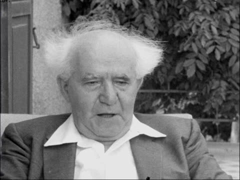 Prime Minister David BenGurion interviewed David BenGurion interviewed SOT [On Arab refugees] As soon as refugees are not seen as just a political...