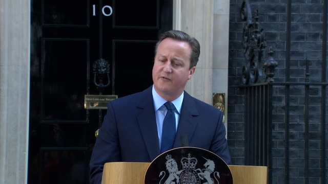 prime minister david cameron confirming his resignation after brexit - david cameron politician stock videos & royalty-free footage