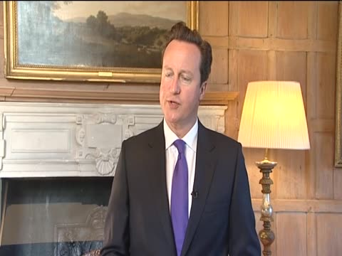Prime Minister David Cameron gives his reaction to the death of Osama Bin Laden