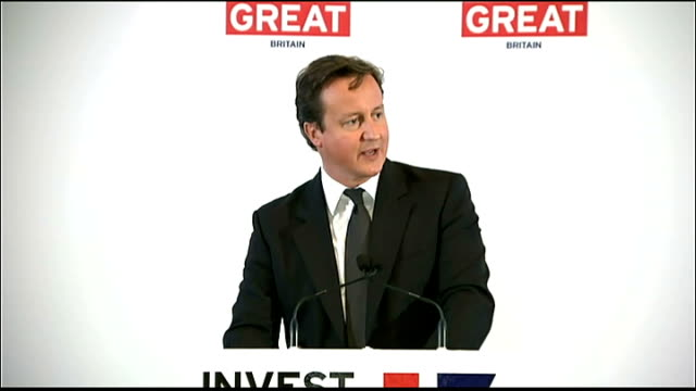 prime minister david cameron in new york for united nations meeting wall street speech david cameron speech continued sot our second attraction is... - speech bubble stock videos & royalty-free footage