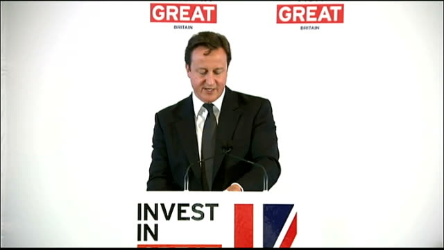 prime minister david cameron in new york for united nations meeting wall street speech david cameron speech continued sot next year we've got the... - big tech stock videos & royalty-free footage