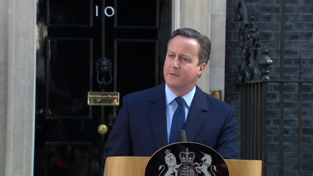 prime minister david cameron praising britain and saying those on the losing side of the eu referendum need to help make it work - public speaker stock videos and b-roll footage