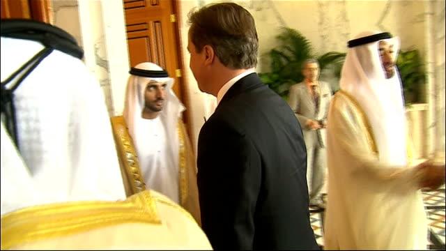 Prime Minister David Cameron visits Za'abeel Palace UNITED ARAB EMIRATES Dubai Za'abeel Palace some sound problems throughout David Cameron MP out of...