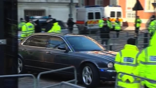 prime minister gordon brown arrives at chilcot inquiry london 5 march 2010 - gordon brown stock videos & royalty-free footage