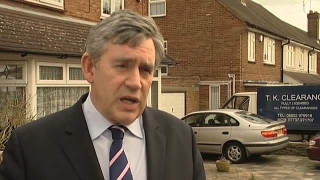 stockvideo's en b-roll-footage met prime minister gordon brown comments on announcement a general election on 6 may uk 9 april 2010 - number 9