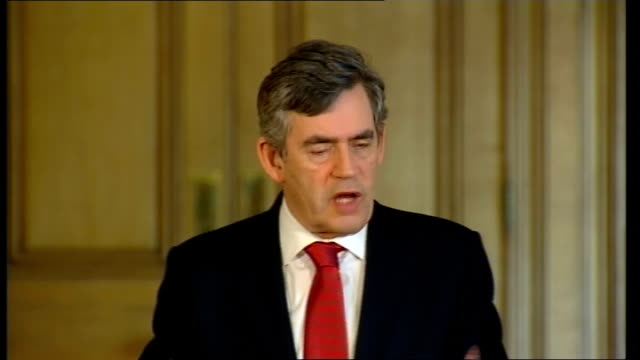 prime minister, gordon brown, monthly press conference; question: on the economy, with all the bills, council tax, road tax, all going up today and... - main course stock videos & royalty-free footage