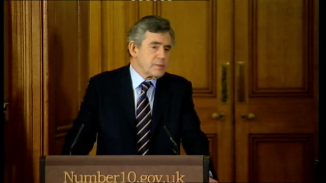 prime minister gordon brown press conference with eu council president herman van rompuy; gordon brown mp press conference sot - half of britain's... - human face video stock e b–roll
