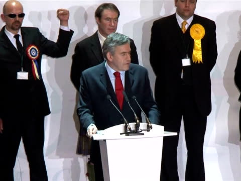 prime minister gordon brown vowed to play my part in ensuring britain has a stable post-election government, as labour ministers talked up a possible... - british liberal democratic party stock videos & royalty-free footage