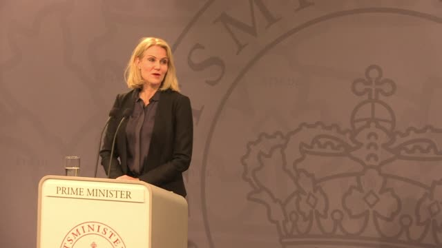 prime minister helle thorning schmidt sought monday to reassure danish jews after a deadly shooting at a synagogue in copenhagen at the weekend - oresund region stock videos & royalty-free footage