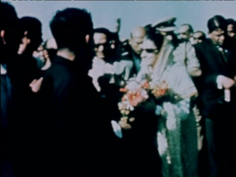 prime minister indira gandhi greets crowds at political rally following reelection india 1971 - indira gandhi stock videos & royalty-free footage