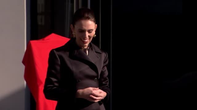 prime minister jacinda ardern addressing attendees at the official opening ceremony for the new zealand embassy building in beijing, china. - prime minister stock videos & royalty-free footage