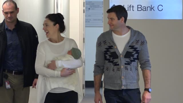prime minister jacinda ardern and her partner clarke gayford have made their first official media appearance in auckland since the birth of their... - neve stock videos & royalty-free footage