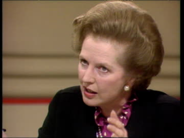 prime minister margaret thatcher defends her order to sink argentine ship ara general belgrano during falklands conflict during questioning by member... - bbc stock videos & royalty-free footage