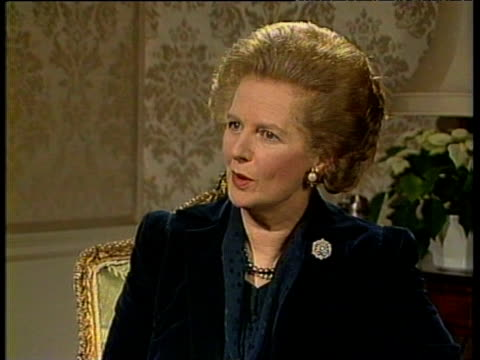 prime minister margaret thatcher describes good relationship with president mikhail gorbachev - margaret thatcher stock videos & royalty-free footage